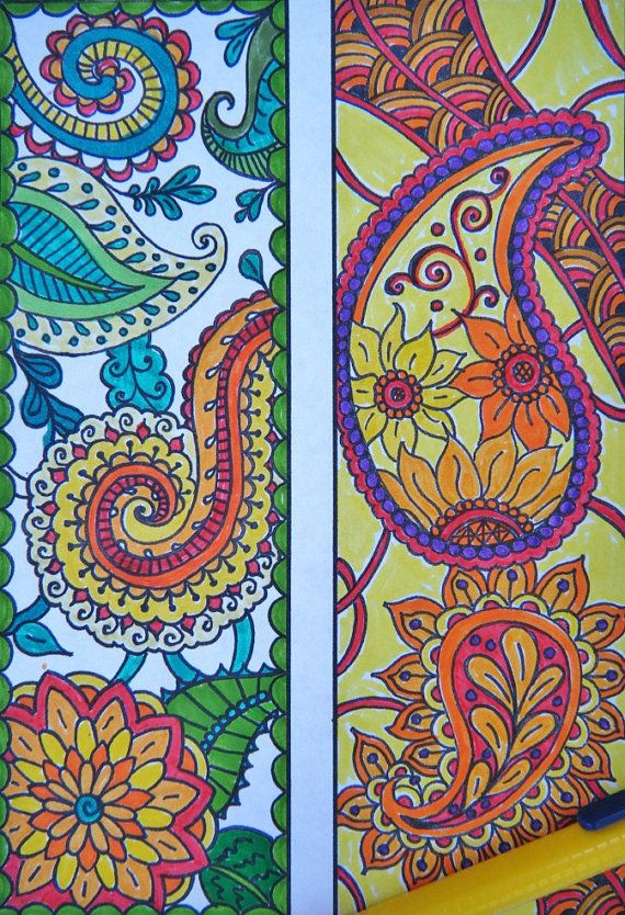 Paisley Bookmarks Printable Bookmark By