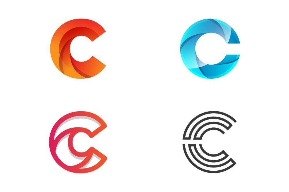 Letter C Monogram Set Logo Design Vector 807158 Logos Design Bundles In 2021 Logo Design Lettering Monogram Logo