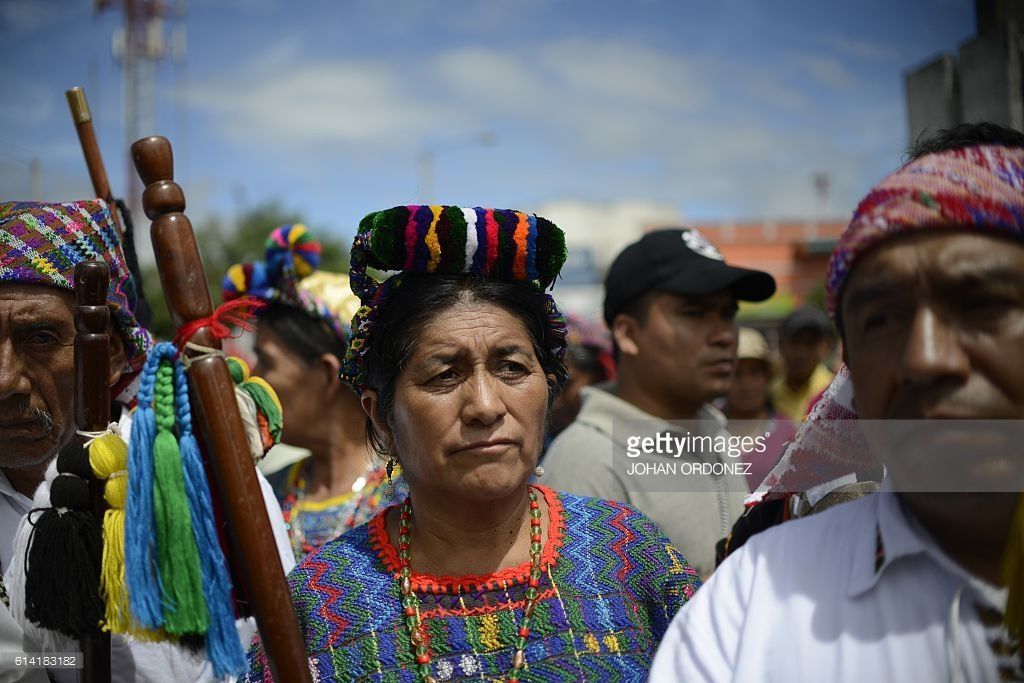 Guatemalan Natives And Peasants March Against Mine Exploitation In Guatemala City Columbus Day Et Photos