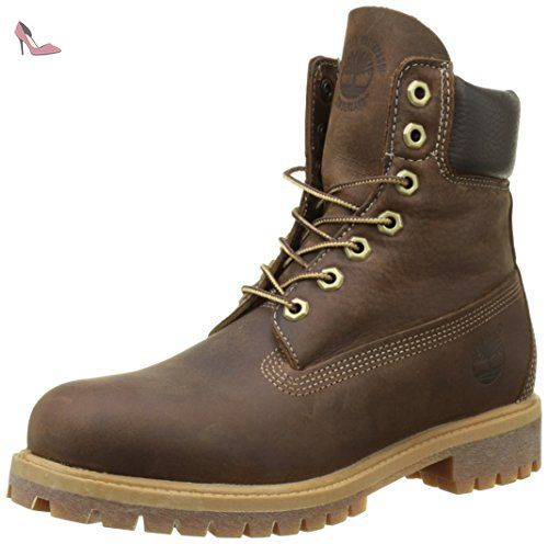 6in Premium Boot, Chaussures Montantes Homme - Marron (Brown Burnished Full Grain) - 39 EUTimberland