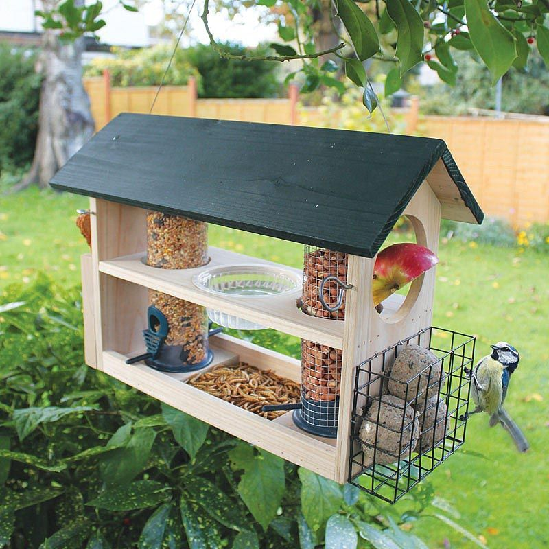 Bird Feeder Station With Planter Stand Bird Feeding Station Bird Feeder Station Bird Feeders