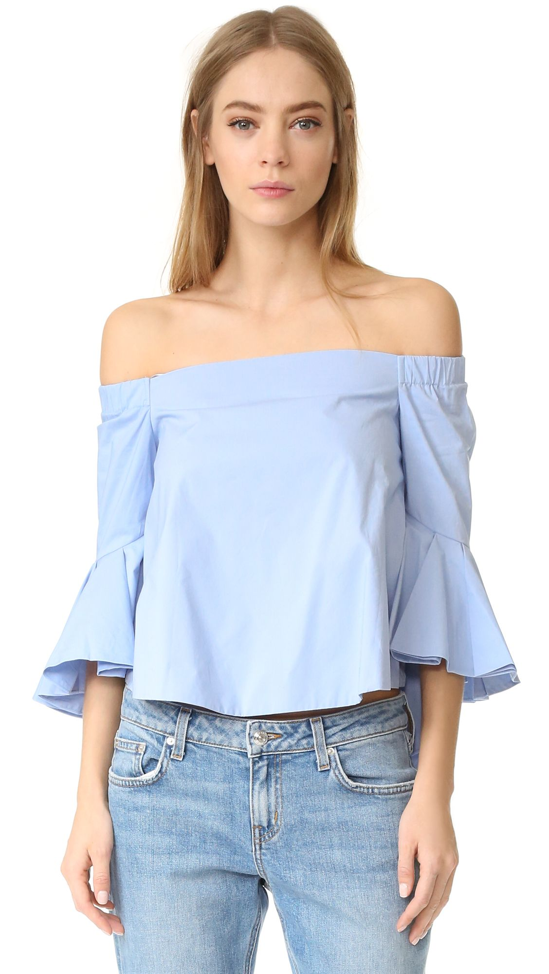 ca314f5497d3e Cómpralo ya!. Endless Rose Ruffle Off Shoulder Top - Powder Blue. An ...