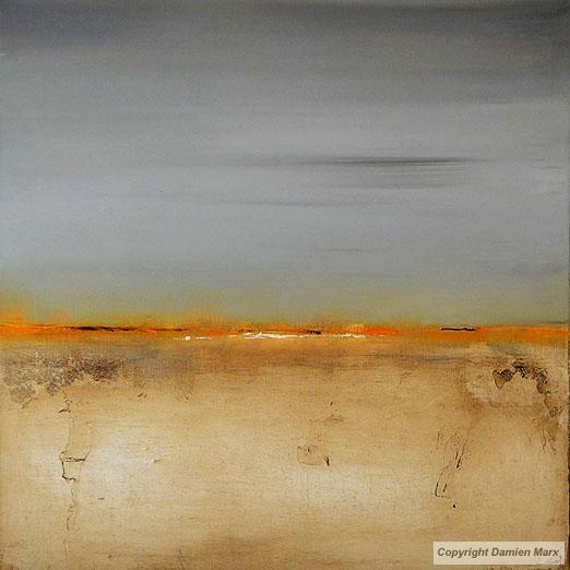 Tableau peinture contemporaine paysage abstrait orange for Peinture contemporaine