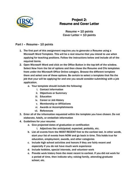 Resume Cover Letter Templates For Office 2010 Resume Cover - word 2010 resume templates