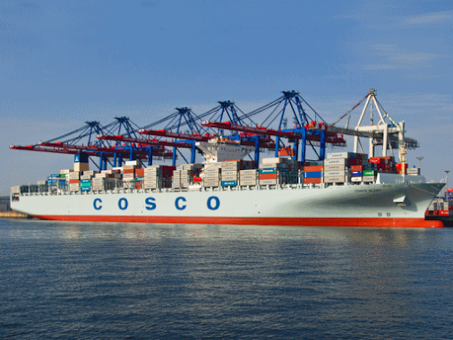 COSCO Container Lines Company Limited (COSCON) operates a fleet of 157 vessels with a total capacity of 667,970 TEUs. Their ships call upon 159 ports in 48 countries/regions around the world and transport cargo along 76 international trade routes.