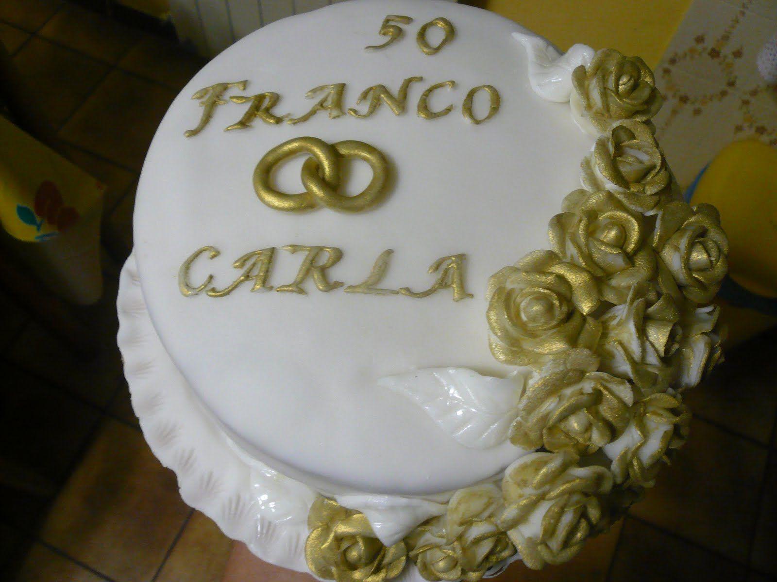 Torte in pasta di zucchero per nozze d oro cerca con for Decorazione torte per 50 anni di matrimonio