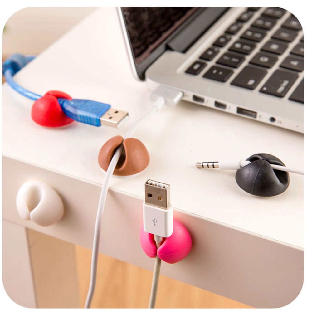 Cable Cord Line Tie Fixer Organizer Charger Desktop Clip Wire Holder