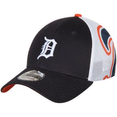 Men's New Era Navy Detroit Tigers Logo Wrapped 39THIRTY Flex Hat