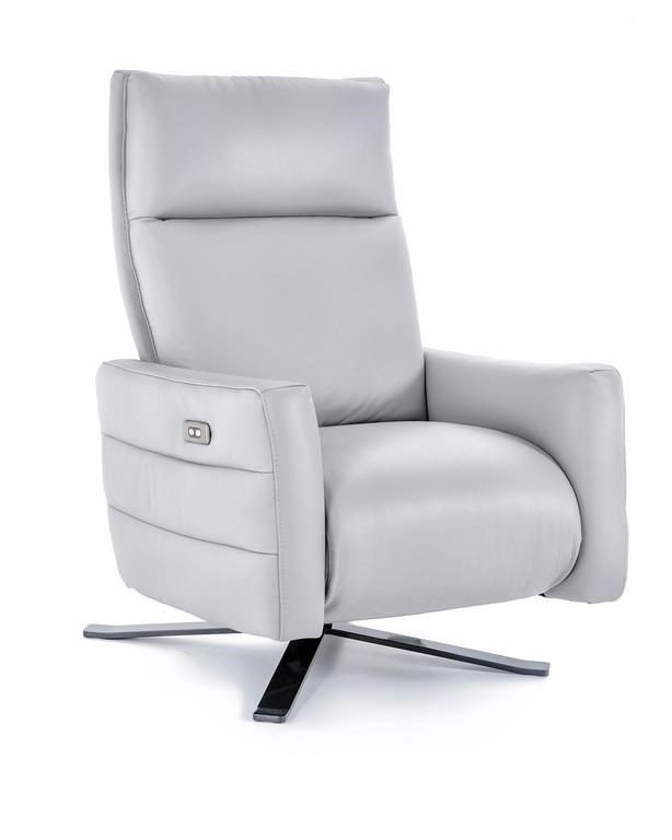 Rolf Benz Relaxfauteuil 577.B958 Power High Leg Recliner With Metal Base By Natuzzi Editions