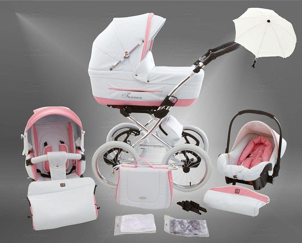 Lux4kids kinderwagen retro set buggy babywanne babyschale neu