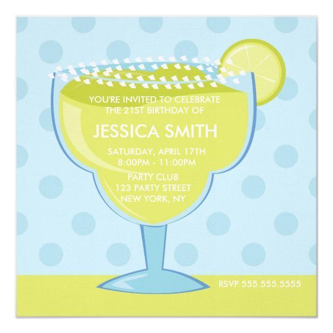 Lime Margarita Birthday Invitation | Zazzle.com #limemargarita Lime Margarita Birthday Invitation #Ad , #ad, #Birthday#Invitation#created#Shop #limemargarita