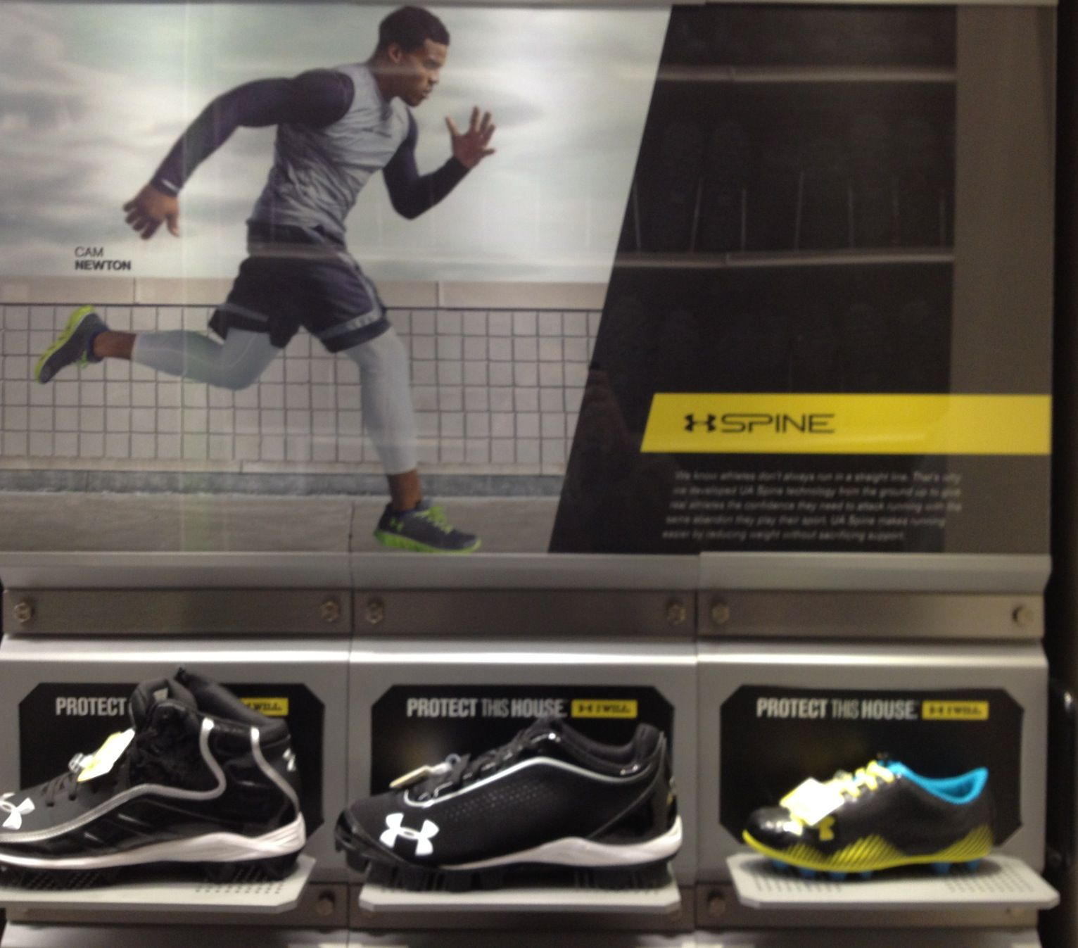 Cam Newton shoe promo Academy Sports and Outdoors