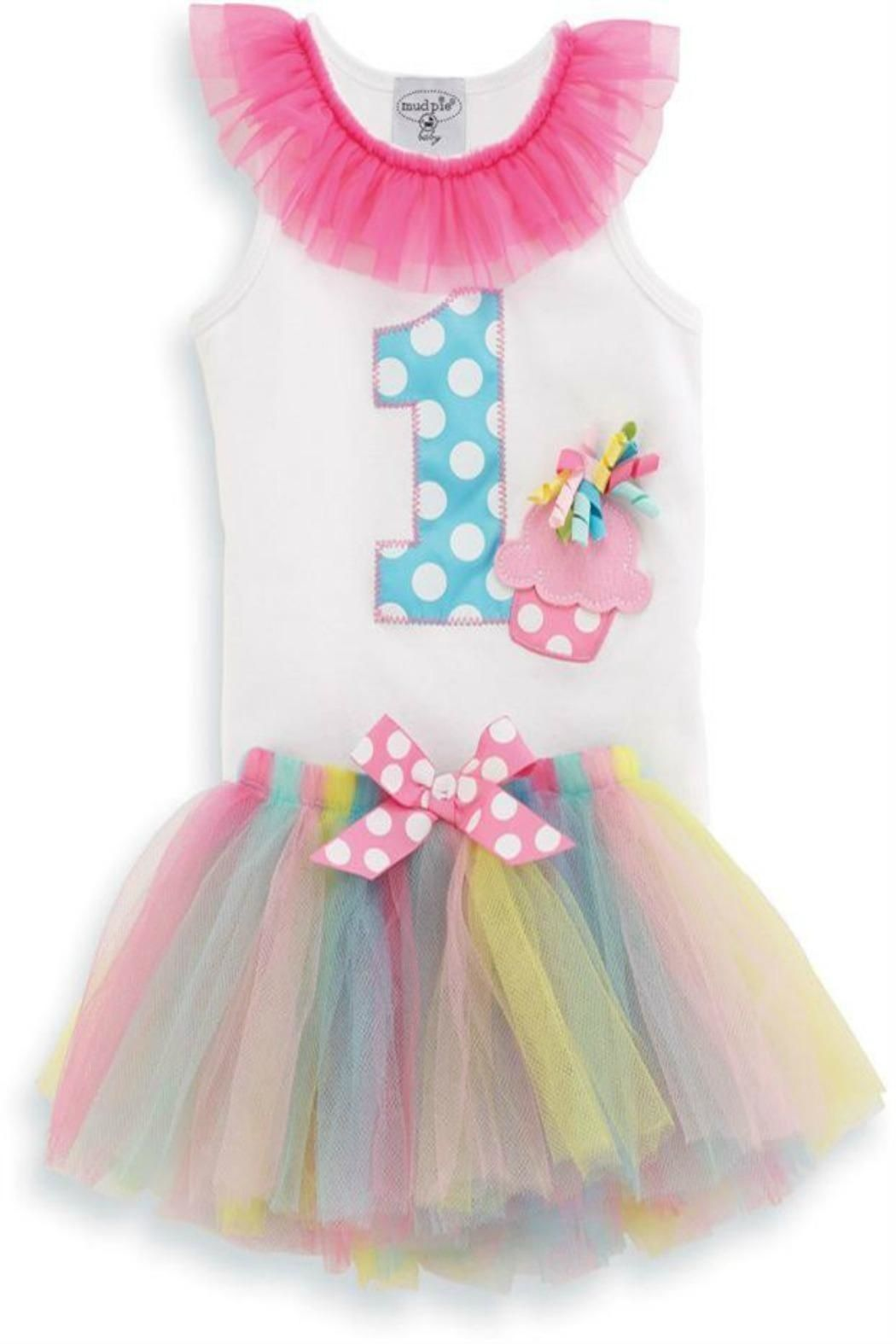 Mud Pie 1st Birthday Tutu Main Image Baby girl first