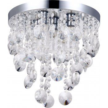 Decorative Contemporary Bathroom Ceiling Light With Glass Droplets Ceiling Lights Crystal Ceiling Light Bathroom Ceiling Light