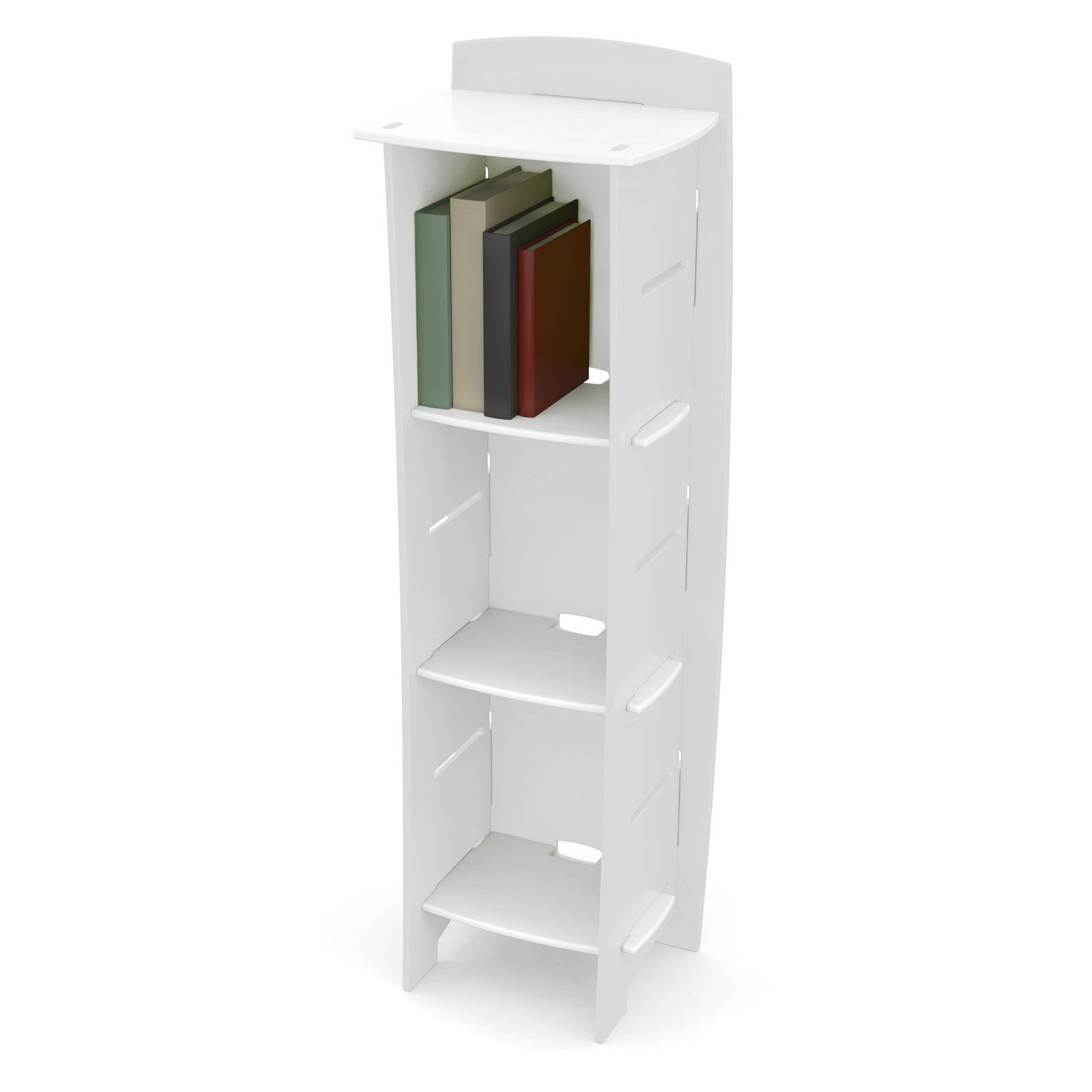p the in bookcase hampton ladder folding of casual nolan bay shelf white standard home bookcases