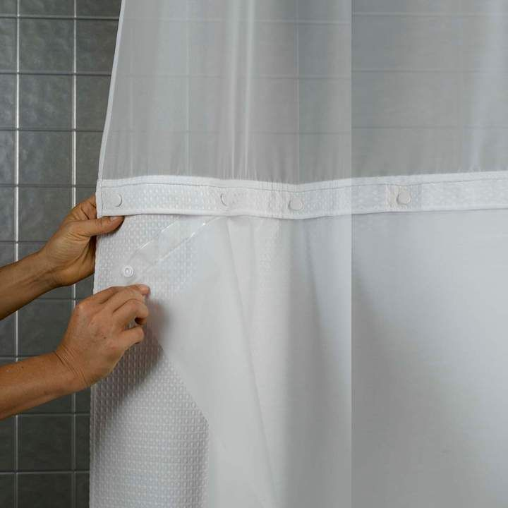 Hookless Peva Shower Curtain Liner Hotel Shower Curtain