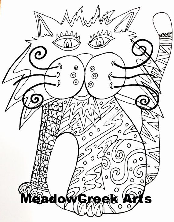 Wild Cat Coloring Sheet for Adults or Kids by ...