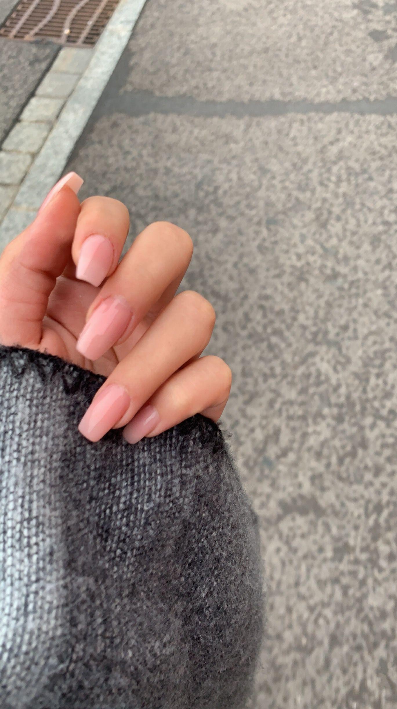 Photo of long acrylic natural nails