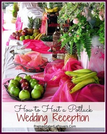 how to host a potluck wedding reception