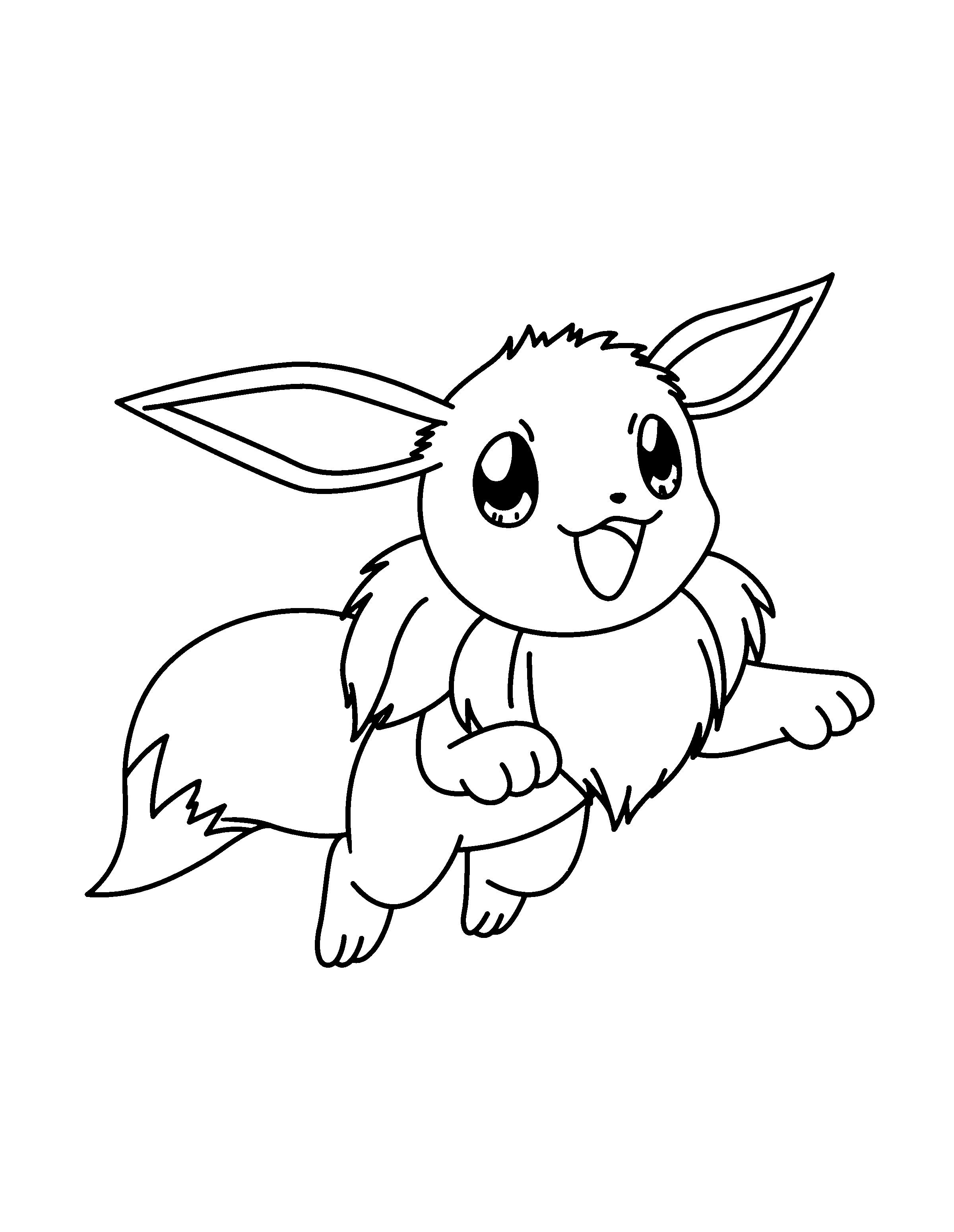Pokemon Coloring Pages Eevee Evolutions Together Best Of Eevee
