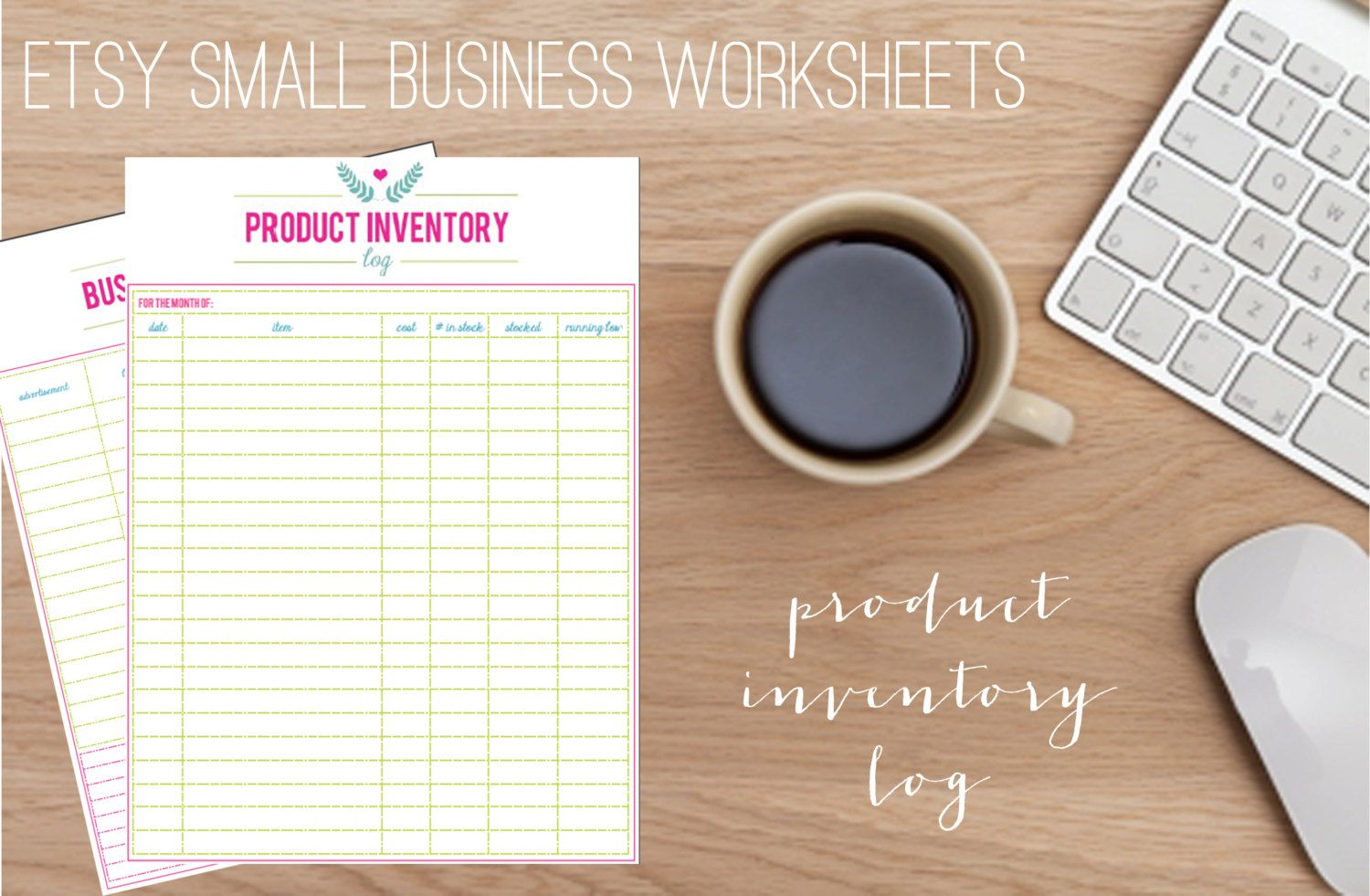 Printable Etsy Small Business Product Inventory Log