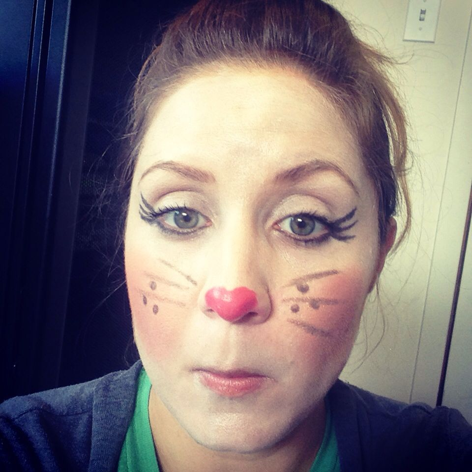 Easter bunny make up!