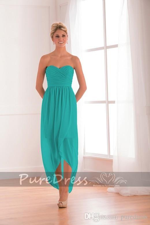 Turquoise Bridesmaid Dresses Glamorous Sweetheart Neckline A Line ...