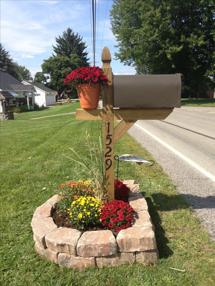 Our mailbox recreated. Its no longer leaning and plain. Everything ...