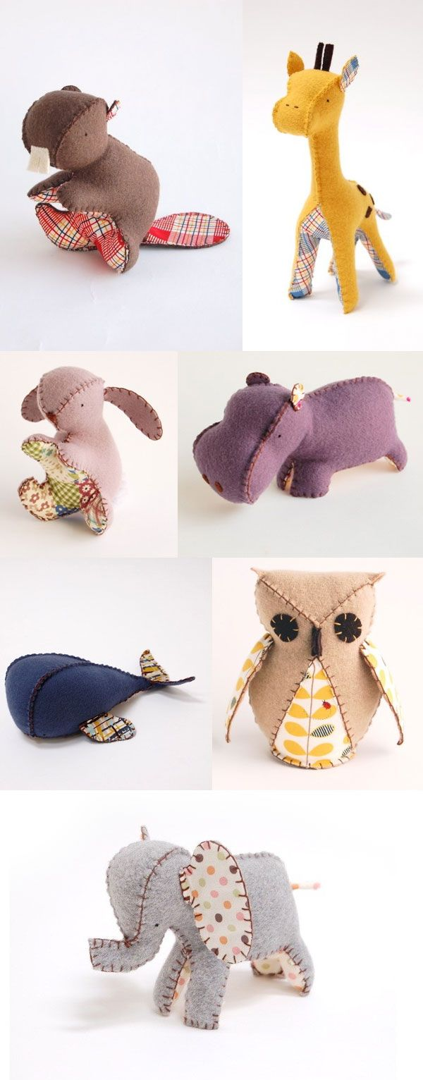 Gorgeous felt animals   Sewing toys, Sewing stuffed ...