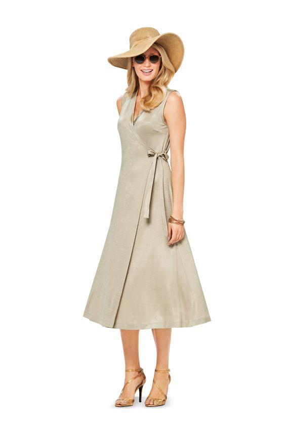 956a92ba7bcff09 Платье с запахом - выкройка № 6759 из журнала 14/2015/2016 Каталог Burda