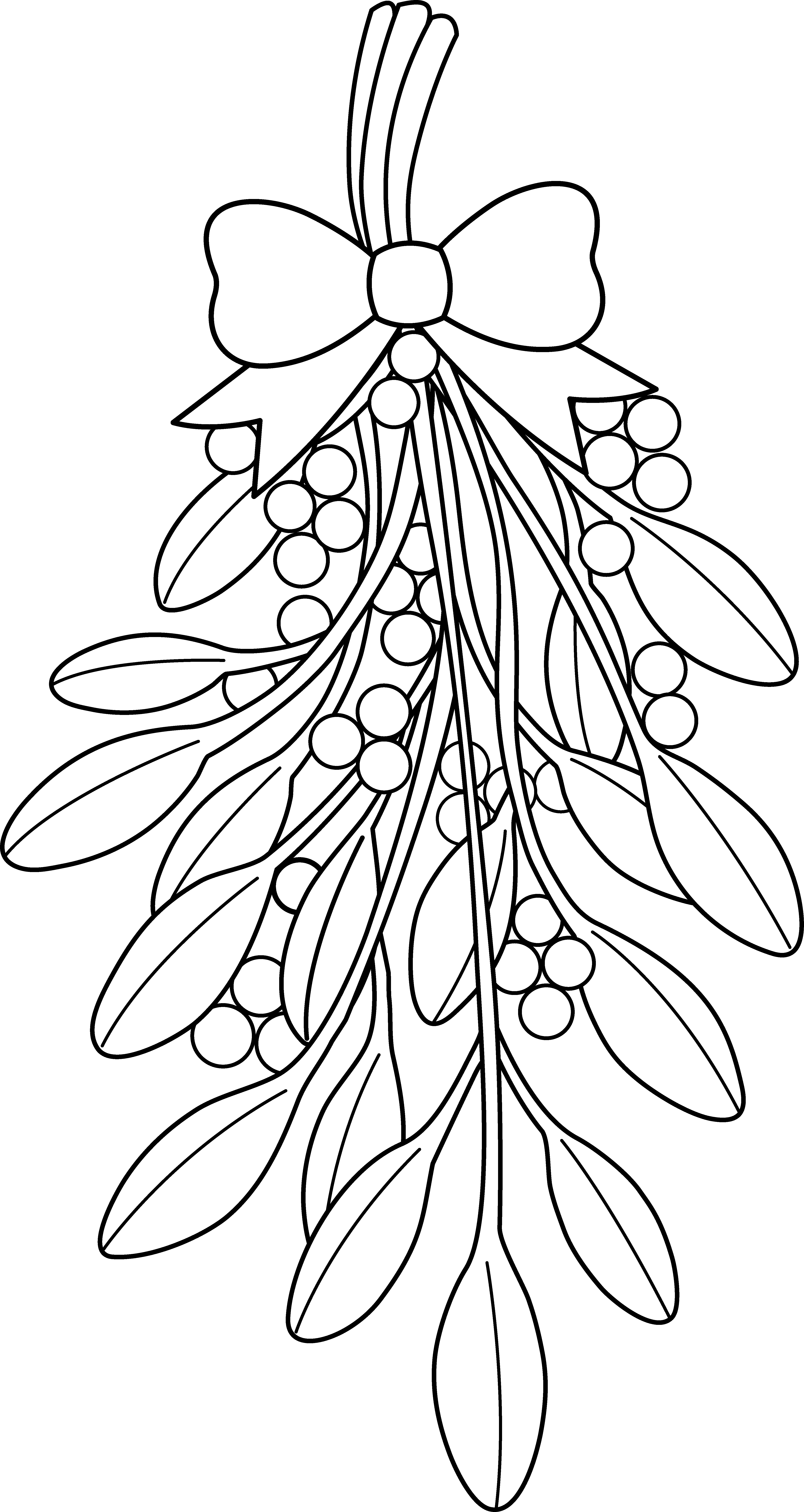 christmas coloring pages mistletoe clipart black and white rh pinterest com Crayons and Coloring Book Clip Art Adult Coloring Books