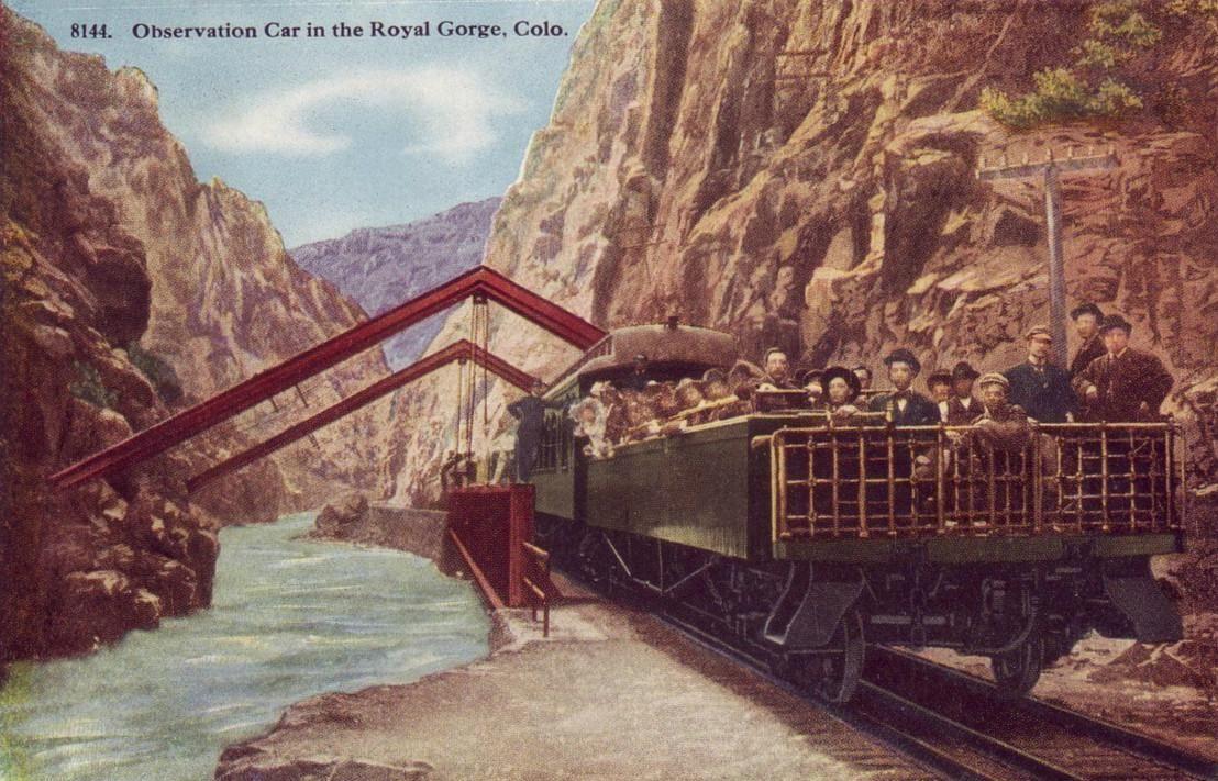 Royal Gorge Denver and Rio Grande tourist passenger car 1918 - Observation car - Wikipedia, the free encyclopedia