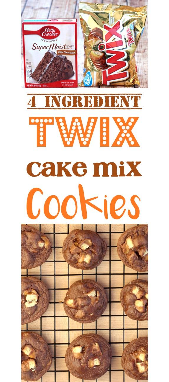 Easy Twix Cookies Recipe! {Just 4 Ingredients} - The Frugal Girls