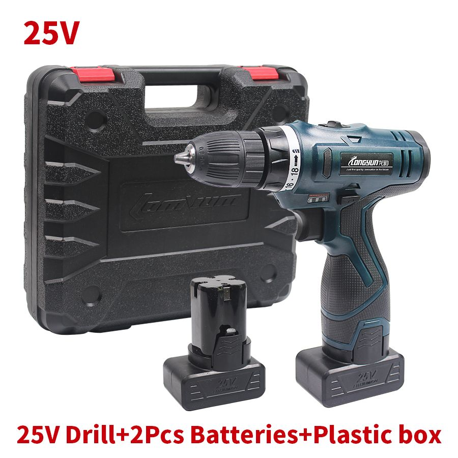 25V Cordless Screwdriver Rechargeable Electric Drill Multi-function 2 Lithium Batteries Electric Screwdriver Power Tools  EUR 77.30  Meer informatie  http://ift.tt/2pPSMRt #aliexpress