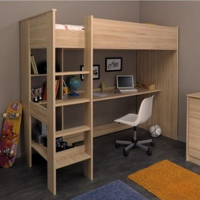 Developed With Design And Function In Mind The Kurt Highsleeper Cabin Bed Has A Long Desk Underneath To Make A