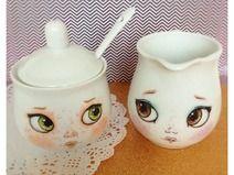 Dolly Eyes Milchkännchen & Zuckerdose