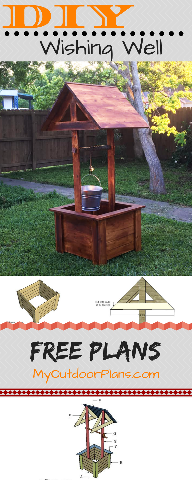 How To Build A Wishing Well Diy Wishing Wells Wishing Well Plans Simple Woodworking Plans