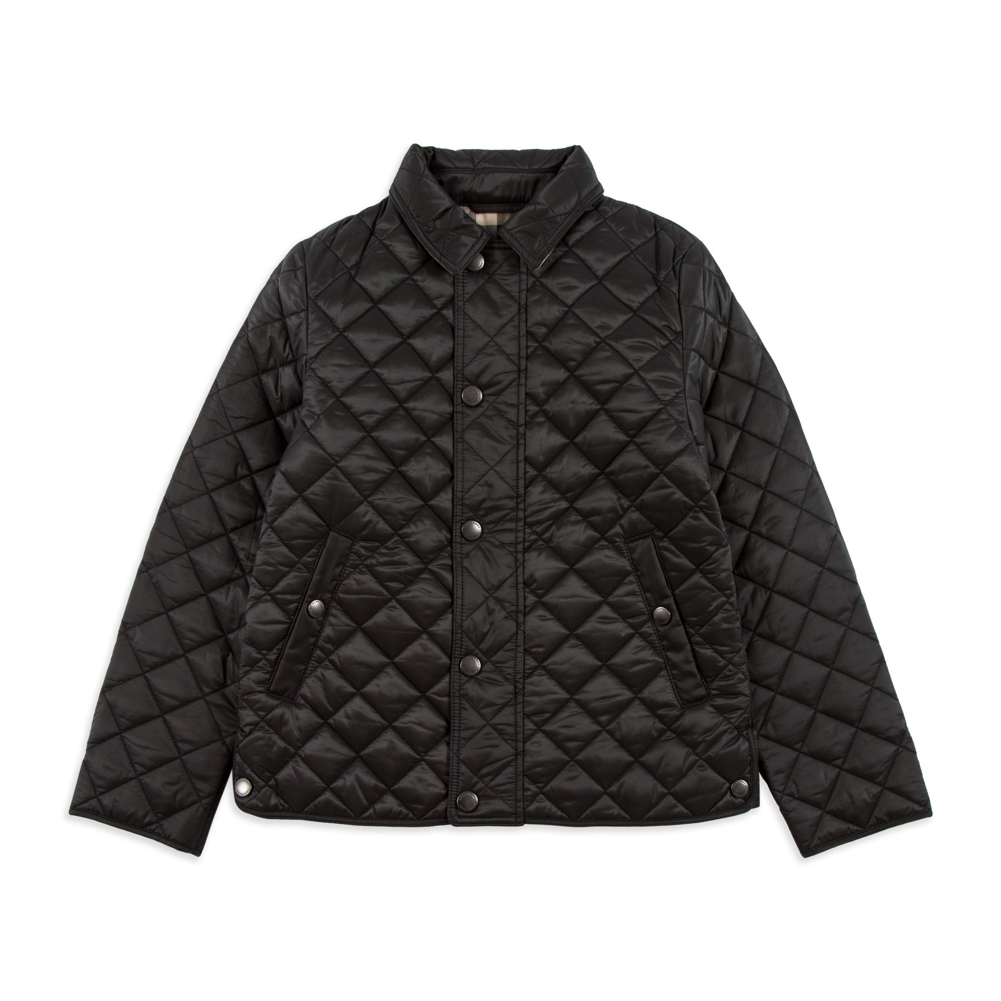 Burberry - Boys 'Luke' Jacket - Black - Boys quilted jacket, Soft ... : burberry quilted check trim coat - Adamdwight.com