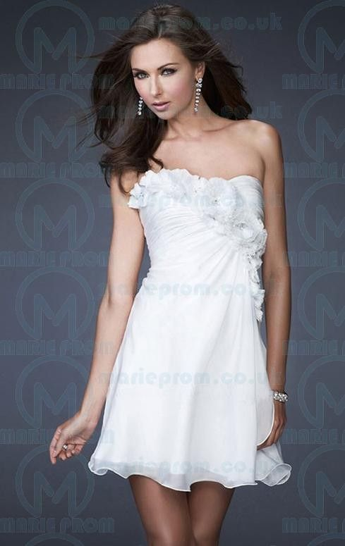 Pretty Short White Tailor Made Cocktail Prom Dress 32899 Cocktail