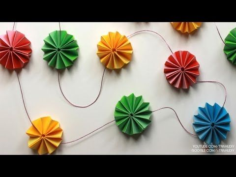 Diy paper crafts how to make paper rosette flower garland diy paper crafts how to make paper rosette flower garland tutorial mightylinksfo Choice Image