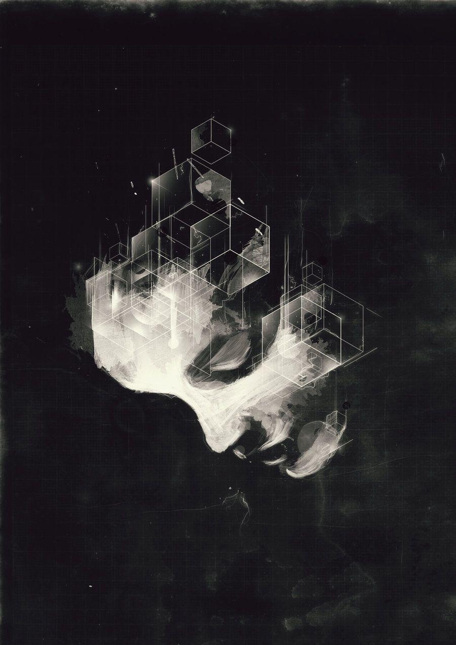 붓느낌의 얼굴에, 깔끔한 디지털느낌의 선이 합했고, 전체적인 분위기는 오래된느낌..