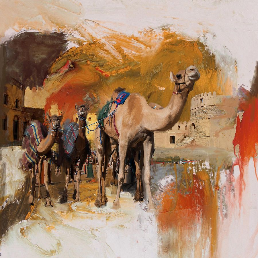 Camels And Desert 29 Islamic Paintings Truck Art Pakistan Camels