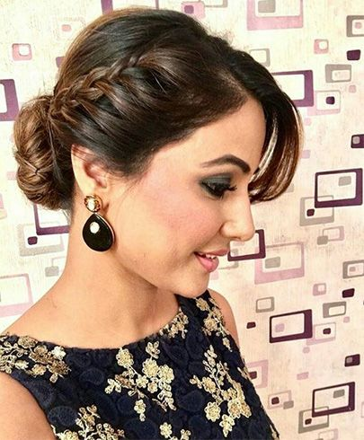 Hairstyles For Sarees Modische Frisuren Frisur Party Haar Styling
