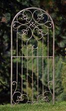 Large Wrought Iron Ornamental Metal Scroll Garden Trellis