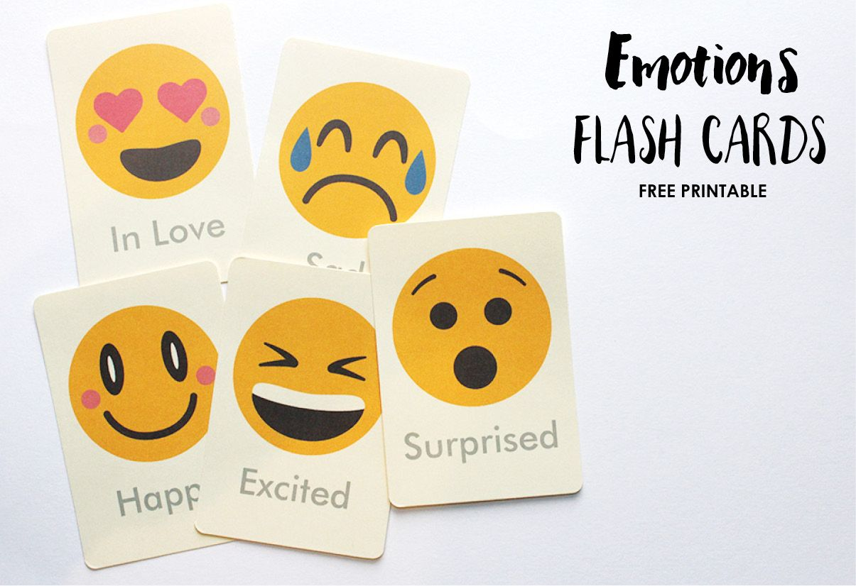 Crafty image within emotion flashcards printable