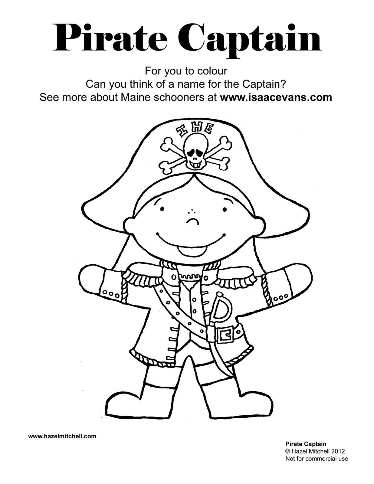 Pirate colouring pages to print - Pirate Coloring Pages For Kindergarten Atkinson Flowers