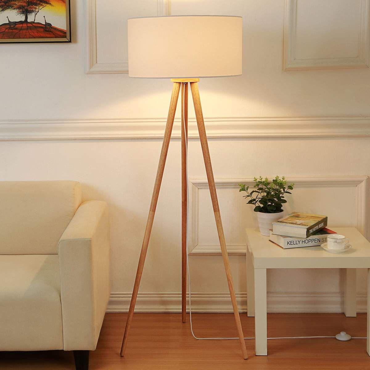 Skandinavische Stehlampe Von Lampenwelt Com Weiss Bodenlampe