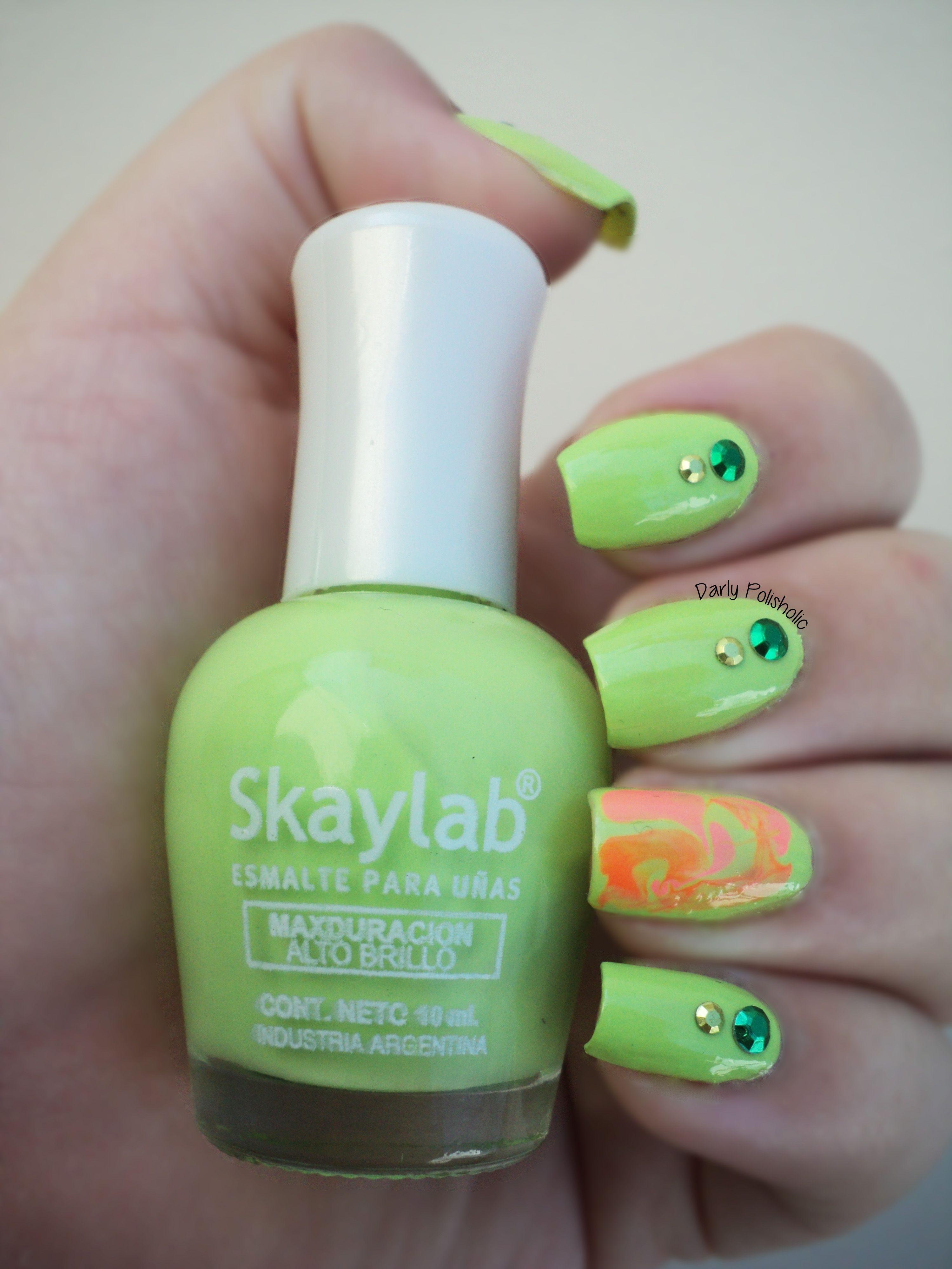 Verde, rosa neon y naranja neon - Skylab\
