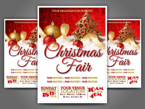 Printable-Personalised-Christmas-Fair-Fete-Event-A5-Flyer-Design - flyer samples for an event