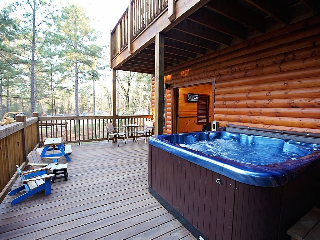 Cabins Is Broken Bow With Hot Tub On Spacious Back Deck Guidelines Of Home Applications And Other Hot Tub Back Deck Cabin